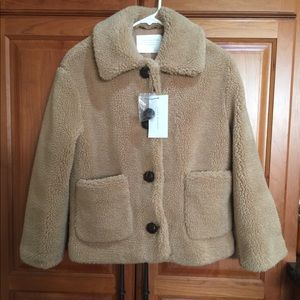 Zara women's XS Sherpa teddy jacket. BNWT